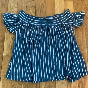 off the shoulder stripped top